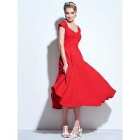 Plain Cap Sleeve Backless Casual Dress