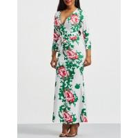Bandage V-Neck Women's Floral Dress