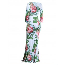 Bandage V-Neck Women's Floral Dress