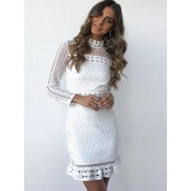 Women's Alluring Lace Patchwork Lace Dress