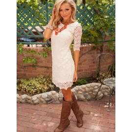 Women's Fabulous Slim Half Sleeve Lace Dress