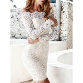Hot Romantic Off Shoulder Lace Dress