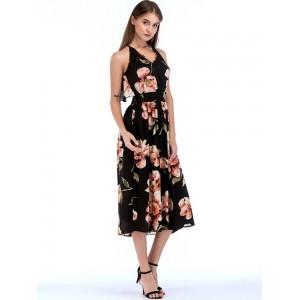 Attractive Off the Shoulder Floral Maxi Dress