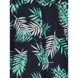 Printing Floral Sleeveless A-Line Dress