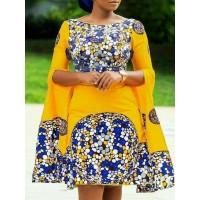 Best Selling Contrast Color Slash Neck Bodycon Dress