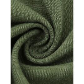 V-Neck Pleated Patchwork Button A Line Dress