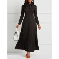 Pure Color Casual Pocket Maxi Dress