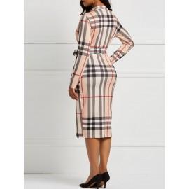 Patchwork Color Block Half Sleeve Bodycon Dress