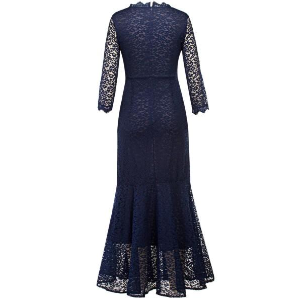 Three -Quarter Sleeve Standard-Waist Lace Dress