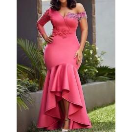 Fancywe One Shoulder Irregular Women's Maxi Dresses